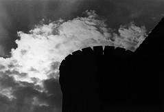 Darkness and Light (Oliver_D) Tags: shadow berlin tower monochrome analog grain turm schatten korn gegenlicht spandau zitadelle schwarzweis canoneos33v