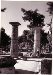 Olympia (1970s) (Ferencdiak) Tags: summer women ruins greece olimpia nyr olmpia kalap n romok pttys grg