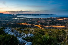Beautiful view from the top of Puig de Sant Marti (Benjamin_R) Tags: sunset spain nikon sonnenuntergang d750 20mm 20 f18 18 mallorca spanien alcudia pollenca portdalcudia badiadepollenca puigdesantmarti f18g