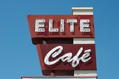 An Elite experience (dangr.dave) Tags: waco tx texas downtown historic architecture mclennancounty neon neonsign elitecafe