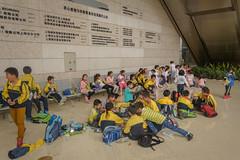 School outing (stevefge) Tags: china scienceandtechnologymuseum shanghai museum people candid kids children kinderen boys girls yellow reflectyourworld schoolchildren school class