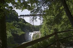 28N Upper Falls (callduckfarm) Tags: railroad trestle bridge train ns waterfalls railroadbridge ge geneseeriver freighttrain norfolksouthern upperfalls letchworthpark dash944cw dash9 portagebridge 944cw 28n gelocomotive portagevilleny southerntierline westernnewyorkrailroads