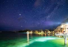 Under the Milky Way (Geoff_F) Tags: ocean night way stars timelapse tahiti milky borabora
