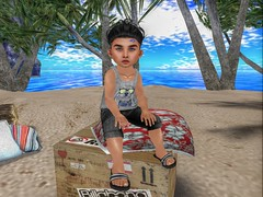 TGIF! (Zaidon Resident) Tags: pictures flowers blue trees sky people sun cute beach boys fashion shirt clouds pose hair photography photo pc 3d sand shoes rocks pretty babies photographer shadows furniture designer sandals teal exploring blogger sneakers secondlife blogging flipflops reality shorts doggy dope tee fit photograpy photooftheday virtural manbun toddleedoo