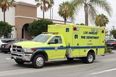 LAFD Ambulance (So Cal Metro) Tags: rescue la losangeles airport lafd ambulance dodge lax ram paramedic ems emt