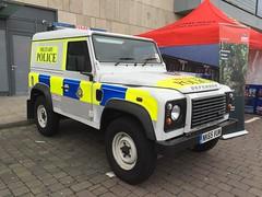 Royal Military Police Land Rover. (barronr) Tags: rmp militarypolice police scotland livingston westlothianarmedforcesday landrover