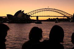 Prioritise peace. (alielkhayat) Tags: sunset house black dark opera exposure peace darkness harbour sydney australia tourists nsw newbie newsouthwales ripples operahouse harbourbridge beginner underexposed noob prioritisepeace