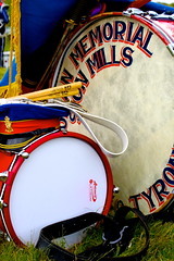 Resting Drums (Mark RobinsonNI) Tags: uk blue ireland red people drums band hats northernireland whit british loyalist ulster 12thofjuly