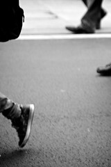 Take a Walk on the Wild Side (Erik Ternsj) Tags: street wild blackandwhite white abstract black london art reed walking photography shoes im walk unique side grain perspective free lou take erik noise riots ternsj ternsjo