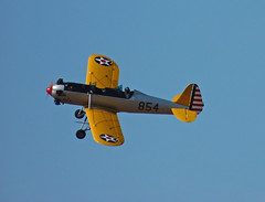 Ryan PT-22 Recruit ( Claire ) Tags: charity usa fly flying unitedstates ryan aircraft norfolk aeroplane airshow 1942 trainer 2012 recruit seething airdisplay usaaf 854 monoplane pt22 unitedstatesarmyaircorps seethingairshow