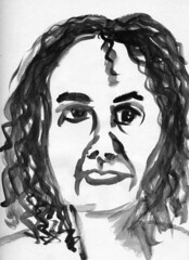 Jane via Skype (Gila Mosaics n'stuff) Tags: portrait ink meetup live oxford skype portraitparty jkpp