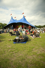 Festival (Nada*) Tags: blue sky music food london grass festival couple tent event fest clapham