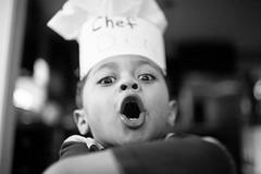 10 BANANA CREAM PIES (espressoDOM) Tags: bw blackwhite cook dash chef sesamestreet dashiel 4yo kiddo2 meuswe mykiddo