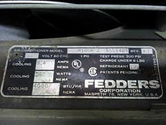 Fedders 4000 BTU 110 Volt Name Plate (The Air Conditioner Guy) Tags: old vintage air airconditioner older ac conditioner unit fedders flickrandroidapp:filter=none