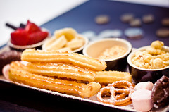 Churros (churian) Tags: food dessert strawberry chocolate marshmallow pretzels fondue churros