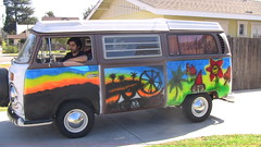 Picture 586 (violentj1983) Tags: bus vw airbrush vwbus crazybus carpoolchella airbrushbus busairbrush