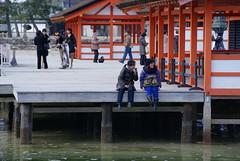 Itsukushima shrine 5 (Sean Fujiyoshi) Tags: japan shrine traditional hiroshima miyajimaisland itsukushimashrine hightide traditionalarchitecture japaneseshrine