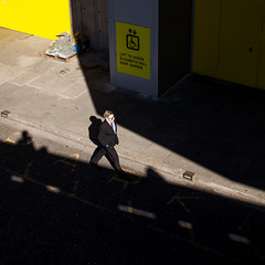 Walk the line... (md-images) Tags: street shadow summer sun man color colour sunshine digital canon photography looking down southbank daytime hayward dslr 6d