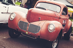 Willys (Garret Voight) Tags: show street old classic car minnesota vintage fairgrounds automobile bokeh automotive retro american 1950s hotrod custom saintpaul willys gasser backtothe50s