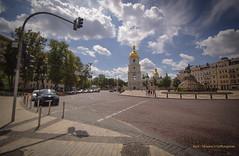 View of St Sophia from the Road in Kyiv (farflungistan) Tags: architecture russia ukraine unesco kiev kyiv stsophia україна київ соборсвятоїсофії