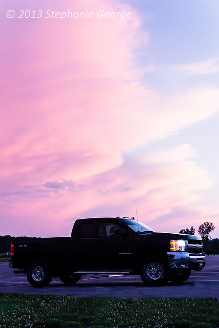 sunset summer truck chevy silverado 2500