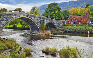 Pont Fawr across the Conwy River at Llanrwst