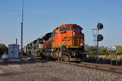 3 ACe's (Trainboy03) Tags: santa burlington illinois il fe northern bnsf barstow 9173