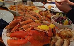 Birthday dinner (monika & manfred) Tags: birthday uk greatbritain island scotland holidays mm relaxation hebrides islaymemorytour msh0414 islay2013 islaymemorytour2013 msh04145 seafoodforbirthday