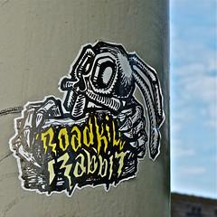 Roadkill Rabbit (Akbar Sim) Tags: holland netherlands stickers nederland denhaag thehague agga roadkillrabbit akbarsimonse akbarsim
