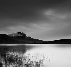 Loch Leathan (James ~ Anderson) Tags: old white storm man black skye monochrome canon scotland long exposure lee loch filters isle portree storr leathan of