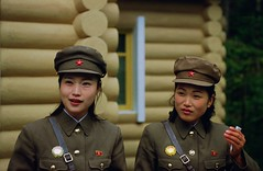 Women soldiers at a secret camp (Frhtau) Tags: life camp people woman del forest walking asian soldier outdoors photography clothing chat asia do day republic leute exterior image background secret north culture scene korea daily potd peoples riding korean inside asie tradition coree wald democratic nord norte lifestyles goup corea dprk coreia nordkorea   colourx     x potd:country=fr countryfr
