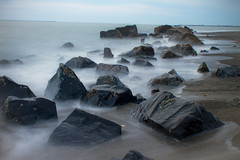 Misty beach (*wildbio*) Tags: beach point washington big long exposure tide low fave damon a