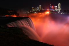 Niagara in the evening (Notkalvin) Tags: longexposure newyork canada night niagarafalls amazing falls explore waterfalls 154 cataracts flickrexplore explored mikekline michaelkline notkalvin notkalvinphotography