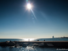 Photowalk Mar Bella i Glries, Barcelona - 09.jpg (JordiKno) Tags: barcelona sky beach playa catalonia filter cielo nd photowalk catalunya marbella filtro densidadneutra