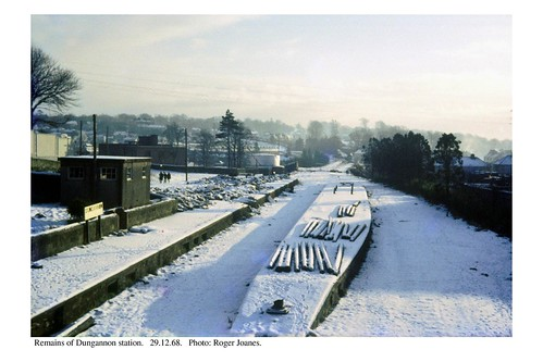 Dungannon station after closure. 29.12.68