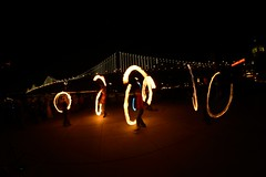(Fede Anselmo) Tags: sanfrancisco california street bridge fire bay nikon san francisco spinning firespinning poi juggling thursday firejuggling oaklandbridge thursdays flickrandroidapp:filter=none