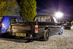 Mk1 Caddy - Unphased Dec' (Anthony Seed) Tags: longexposure vw night canon volkswagen eos december pickup german 1855mm houghton meet caddy vag 500d unphased mk1 2013 theboatyard