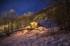Mountain - Peaceful night (Lorenzoclick) Tags: winter light italy mountain snow nature night canon stars 5d montagna stellata peacefulnight canon5dmarkiii canonef2470mmf28iilusm