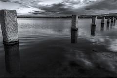 Laguna (Skize26) Tags: sardegna santa bw white black reflection water canon eos sardinia bn laguna acqua riflessi bianco nero hdr cagliari stagno gilla blocchi 550d skize