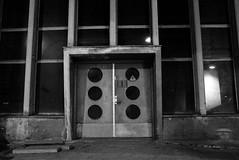 Enter if you dare (primitiveprobe) Tags: door leica windows bw building concrete entrance eerie x1