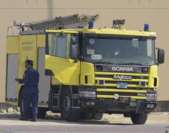 Scania 94G Fire Engine (Boushh_TFA) Tags: 2 fire bahrain nikon air engine 300mm airshow international civil da 1855 nikkor base f28 defence scania 2014 sakhir d600 vrii 94g obkh