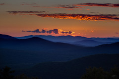 Sunset on Hadley Mountain (PNG441) Tags: sunset clouds landscape outdoors evening spring cloudy adirondacks ledge summit orangesky newyorkstate goldenhour adirondackmountains orangesunset hadleymountain