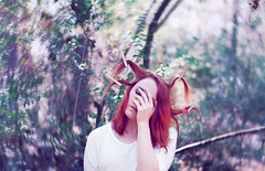 Hung out to Dry (MeganBolyardPhotography) Tags: hair photography surrealism redhead spinning hanging bookcover conceptual clothespins fedup girlwithredhair hungouttodry conceptualphotography interestinghair surrealistphotography portraitinforest portraitinwoods