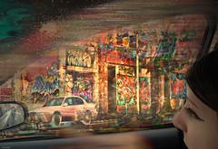 === passenger === (xandram) Tags: window car graffiti textures passenger photoshopfeb