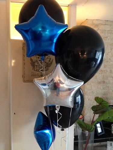 Tafeldecoratie 6ballonnen 24inch Folieballonnen Ster
