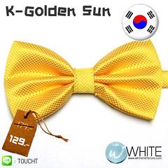 K-Golden Sun หูกระต่าย สีเหลืองอมส้ม ผ้าเนื้อลาย สไตล์เกาหลี BT003