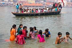 Waterfun (Dick Verton ( more than 13.000.000 visitors )) Tags: travel people india river boats asia varanasi waterfun ganges otherside viewonvaranasi