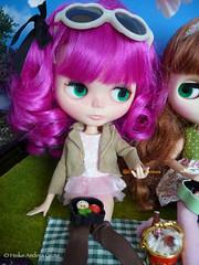 Blythe Hanami 5of6 (Heike Andrea Grote ) Tags: party japan doll kawaii sakura kimono pullip blythe takara licca hanami monchhichi bentobox basaak heikeandreagrote