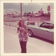 Old school McDonalds, circa 1971 (STUDIOZ7) Tags: urban woman girl car landscape restaurant stand 60s fastfood drivein mcdonalds hamburgers teenager 70s hippie 1960s 1970s seventies sixties teenage