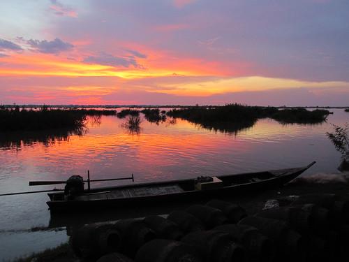 Camping sauvage, Mékong, Cambodge
